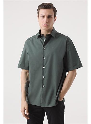 Tween Tween Oversize Siyah Düz Gömlek Haki